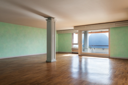 Interior, apartment empty in style classic, large room Stock Photo - 18913379