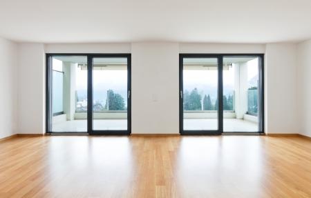 interior modern empty flat, apartment nobody inside Stock Photo - 19144987