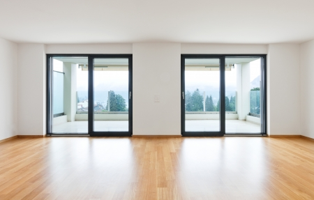 interior modern empty flat, apartment nobody inside Stock Photo - 19144987