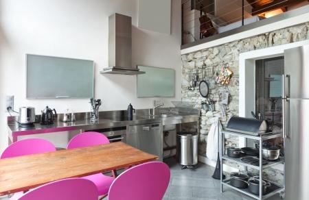 interior of beauty house,  kitchen Stock Photo - 19557484