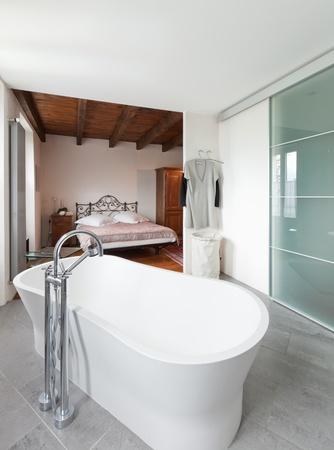 architectonics: interior of beauty house, bathroom Stock Photo