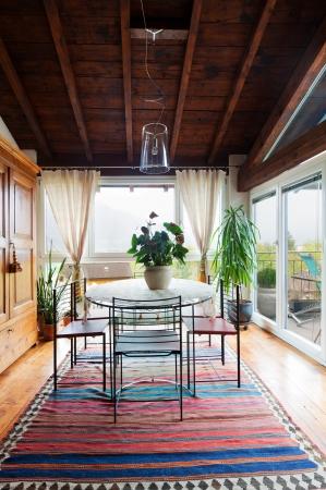 architectonics: interior of beauty house, dining room