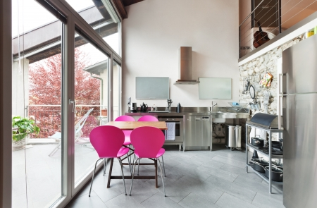 interior of beauty house,  kitchen Stock Photo - 20177307