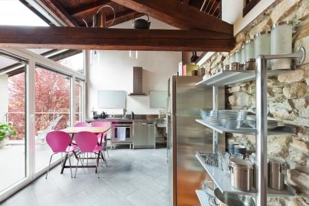 interior of beauty house,  kitchen Stock Photo - 20177308