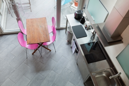 forniture: interior of beauty house,  kitchen Stock Photo