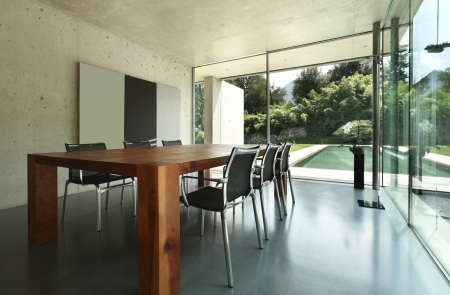 modern dining room, nobody inside  Stock Photo - 21018414