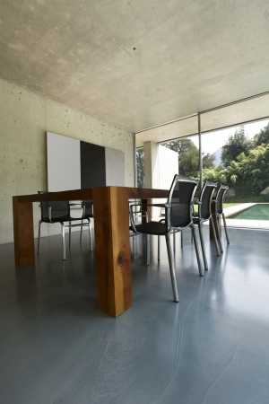 modern dining room, nobody inside  photo