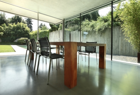 modern dining room, nobody inside Stock Photo - 21018416