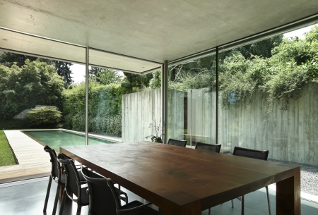 modern dining room, nobody inside  Stock Photo - 21018418