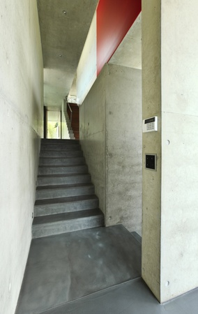 staircase, interior modern house photo