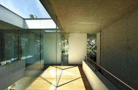 duplex: interior and passage in a modern house
