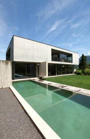 outdoor, modern house with pool Stock Photo - 21018544