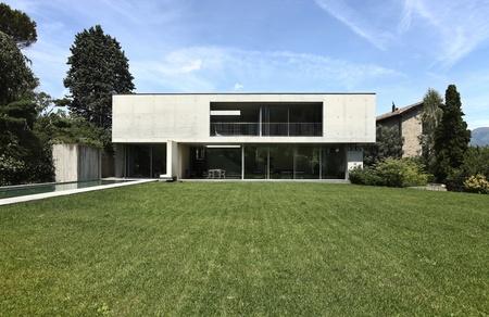 modern garden: modern house and beauty garden