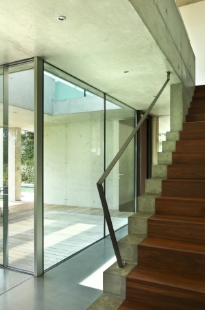 Beauty staircase in a modern house photo
