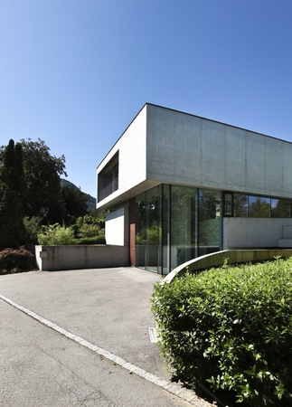 entrance of a modern house in beton Stock Photo - 21162300