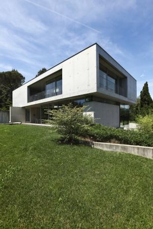 modern house and beauty garden photo