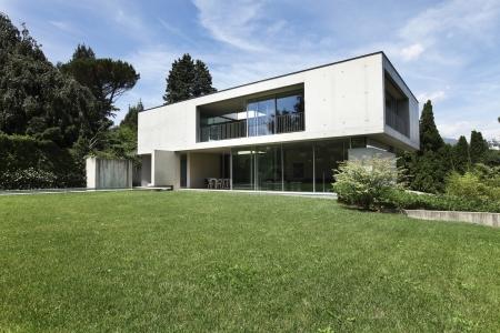 modern house and beauty garden Stock Photo