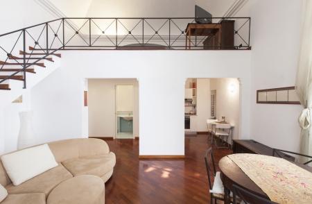 apartment interior: Interior room with nice furniture inside Stock Photo