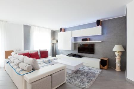 Interior moderno de sala de estar Foto de archivo