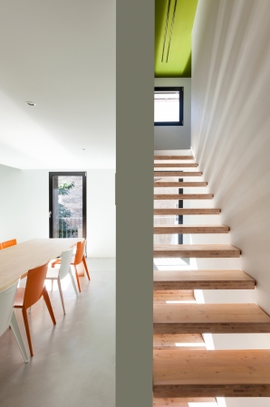 Beautiful modern house, view of the stairs Stock Photo - 22805857