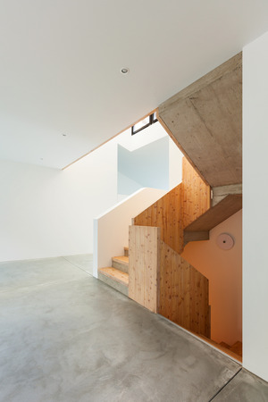 Interior of empty modern house, view staircase Stock Photo - 22805862