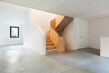 Interior of stylish modern house, staircase view Stock Photo - 22805863