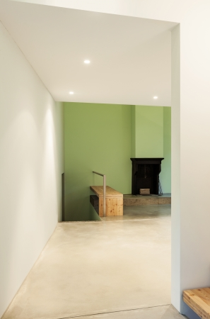 Interior of stylish modern house, view from the passage Stock Photo - 22805870