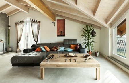 interior new loft, ethnic furniture, living room  Stock Photo - 23448713
