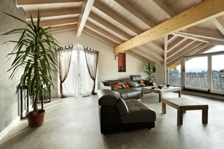 interior new loft, ethnic furniture, living room Stock Photo - 23448722