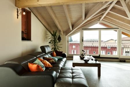 inter new loft, ethnic furniture, living room Stock Photo - 23448726