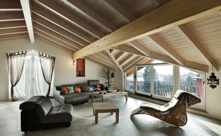 inter new loft, ethnic furniture, living room  Stock Photo - 23448727