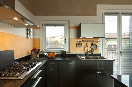 interior, new loft furnished, view of kitchen  Stock Photo - 23448760