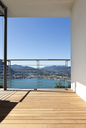 minimal: Modern apartment,balcony with panoramic view