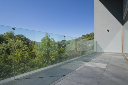 veranda: Modern house surrounded by nature, outdoors