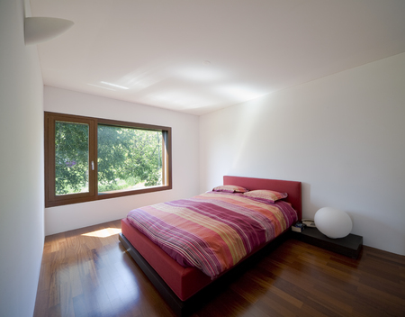 modern house, bedroom Stock Photo - 23570612