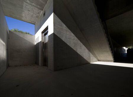 foyer: Modern building, interior