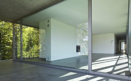 glass doors: Modern building, interior