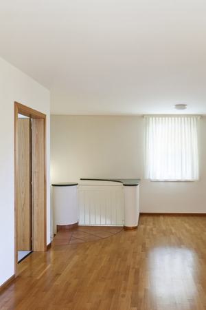 new classic house, interior, empty room with wooden floor photo