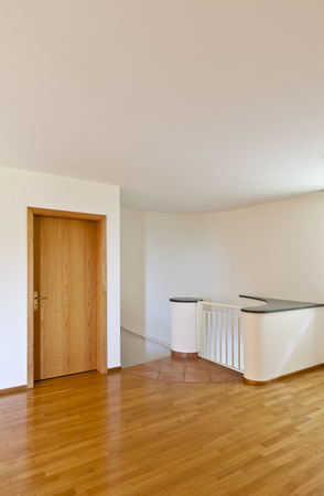 classic house, interior, empty room with wooden floor  photo