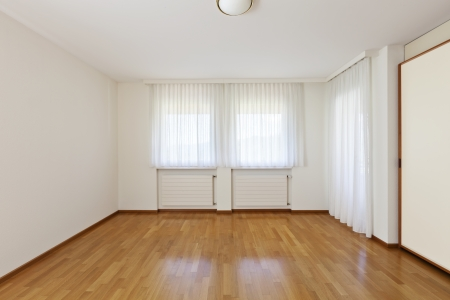 classic house, interior,empty room with windows photo