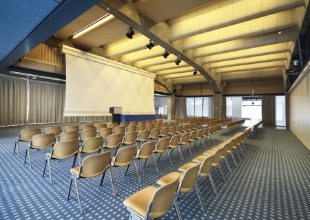 convention hall: interior of a conference hall Stock Photo