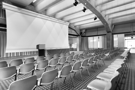 interior of a conference hall Stock Photo