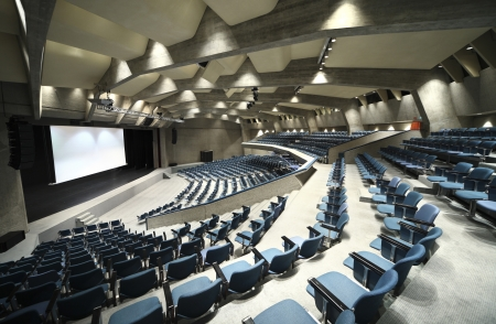interior of a Congress Palace, audience