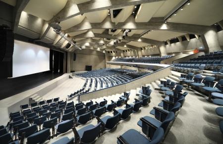 Interior de un palacio del congreso, la audiencia Foto de archivo - 23995534