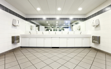 public restroom: interior of a Congress Palace, public toilets