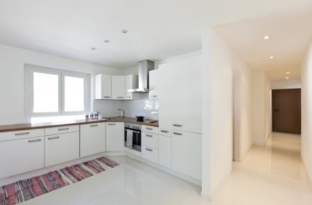 interior house, large modern kitchen photo