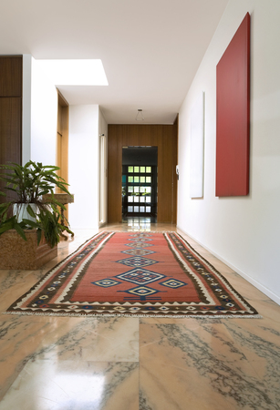 Interior of modern house, corridor photo