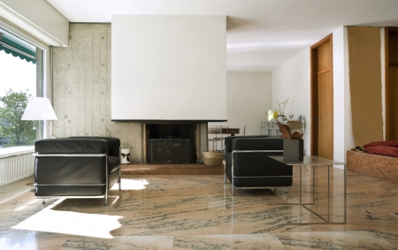 Interior of modern house, living room