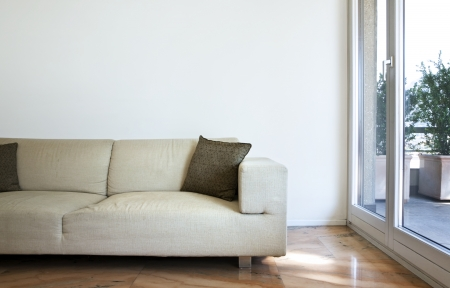 Interior of modern house, living room photo
