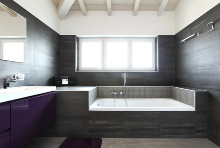 modern bathroom: Beautiful Bathroom in Luxury Home